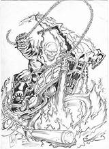 Rider Ghost Coloring Skull Ausmalbilder Bangali Desenhos Drawing Ghostrider Printable Wars Adults Zum Adult Fantasma Colorir Motoqueiro Geisterfahrer Sheets Popular sketch template