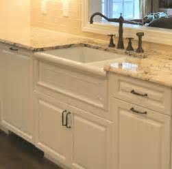 bisque kitchen faucet farm sink