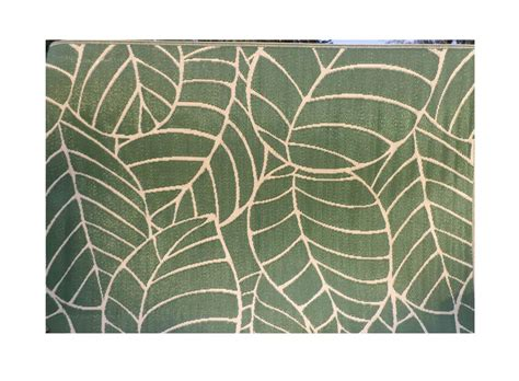 clearance fab rugs leaf 150x210cm outdoor indoor large