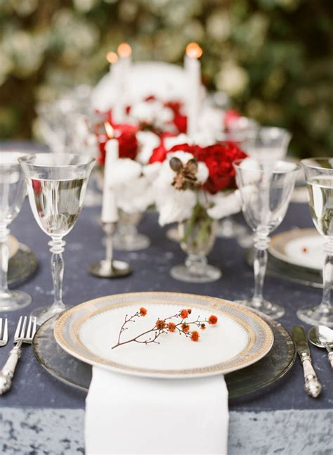 picture  beautiful christmas wedding table setting ideas