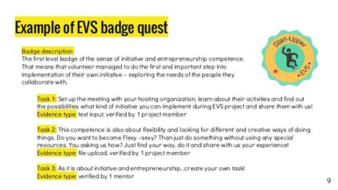 Exles Of Using Your Own Initiative by Open Digital Badges For European Learning Mobility