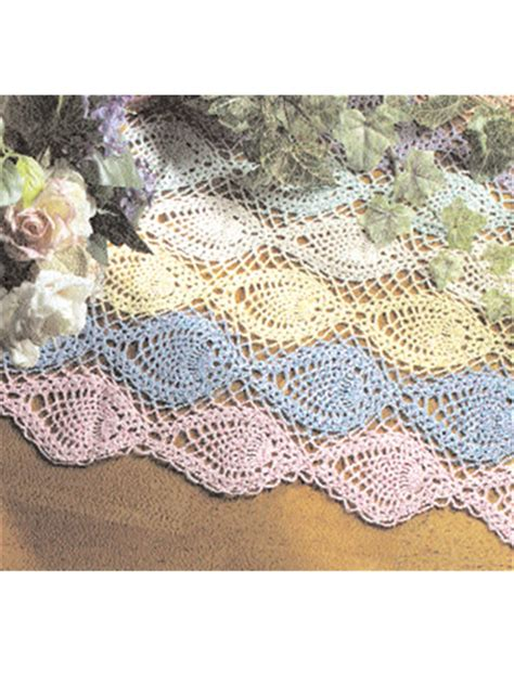 free crochet pineapple table runner patterns crochet free pattern pineapple runner crochet club