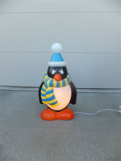 vintage penguin christmas blow mold lighted outdoor