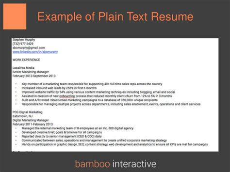 Resume In Plain Text by Finding In A Digital Age How To Apply Smart Land