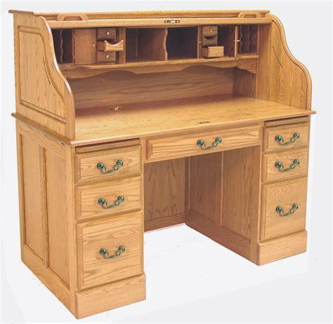 cheap roll top desk 54 quot w deluxe solid oak roll top desk