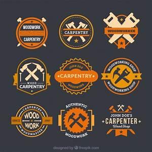 Logos fantásticos para carpintaria Baixar vetores grátis