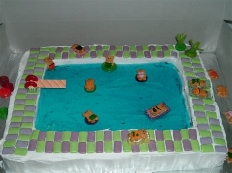pool party cakes decoration ideas  birthday cakes