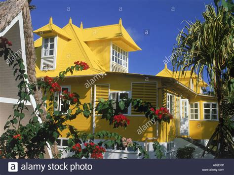 quot the yellow honeymoon house quot at la digue island lodge in the stock photo royalty free image