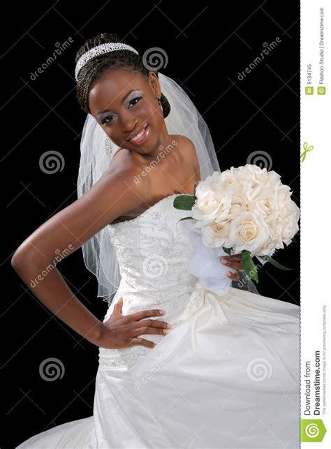 beautiful african american bride portrait stock image