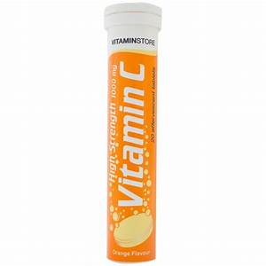 High Strength Effervescent Vitamin C Tablets 1000mg - Orange