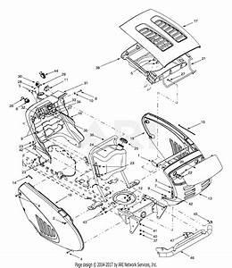 Troy Bilt 13au609h063  1999  Parts Diagram For Hood Style