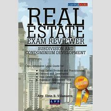 Real Estate Exam Reviewer Subdivision And Condominium Development  Lvs Rich Publishing