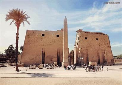 Temple Ruins Ancient Egypt Luxor Reconstructed Architectural