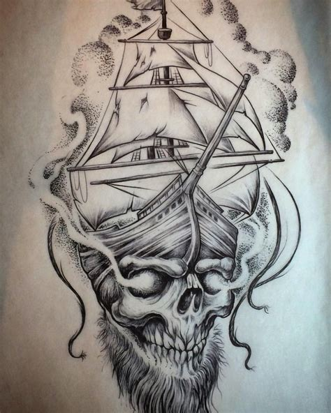 Boat Drawing Tattoo by Pirate Ship Tattoo Drawing Traditional Pirate Ship Tattoo