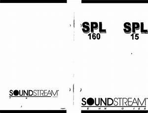 Soundstream Technologies Speaker Spl 15 User Guide