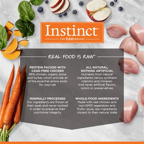 instinct raw frozen bites cage  chicken recipe