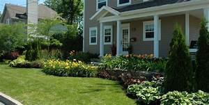 idees amenagement facade de maison With idees amenagement jardin exterieur 5 avant apras oser la couleur en exterieur