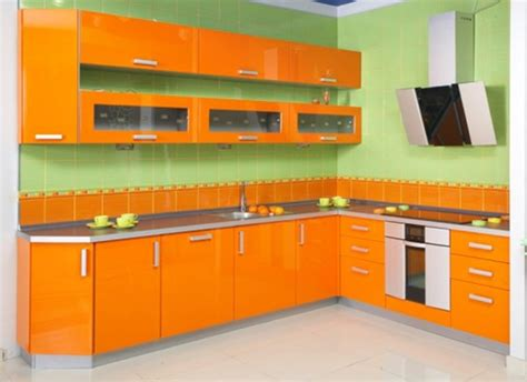 kitchen design orange vibrant orange kitchen decorating ideas interior design 1294