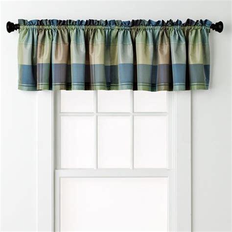 united curtain co plaid valance 54 x 18