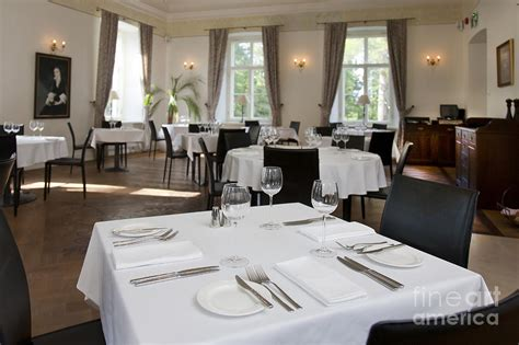 upscale hotel dining room photograph by jaak nilson