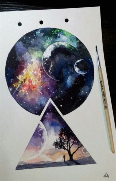 30 Startling Acrylic Galaxy Painting Ideas