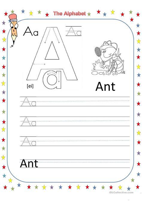 letter b worksheets the alphabet letter a worksheet free esl printable 22774   big 23111 the alphabet letter a 1