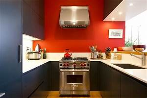 couleur peinture cuisine 66 idees fantastiques With beautiful meuble cuisine couleur taupe 13 parquet fonce