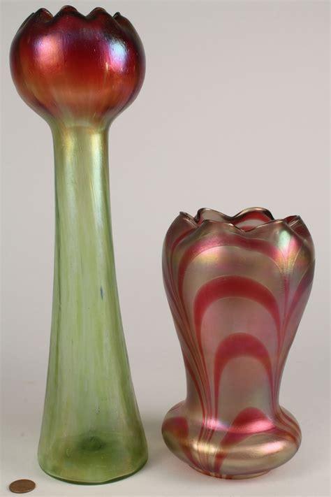 lot   art glass items vase bowl lamp shade