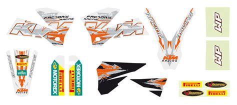 aomcmx  ktm factory graphics kit white