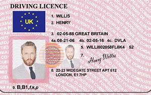 Hq edited uk drivers license bypass verifition for Driving license template