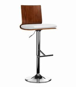 Chaise Bar Bois : chaise de bar en bois et similicuir blanc ~ Teatrodelosmanantiales.com Idées de Décoration