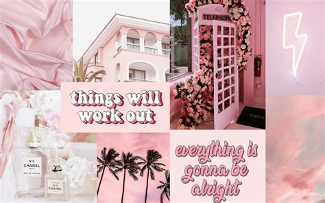 pink aesthetic collage desktop wallpaper aesthetic