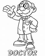 Doctor Coloring Cartoon Professions Printable Children Topcoloringpages Sheets sketch template