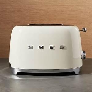 Smeg Toaster Creme : smeg cream 2 slice retro toaster crate and barrel ~ A.2002-acura-tl-radio.info Haus und Dekorationen