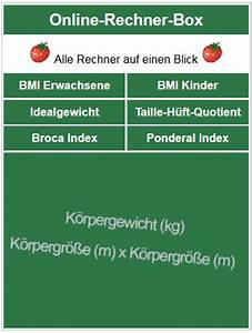 Normalgewicht Berechnen : bmi berechnen bmi rechner body mass index ~ Themetempest.com Abrechnung
