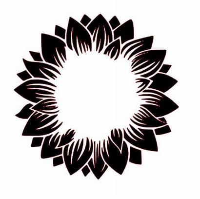 Sunflower Cricut Svg Monogram Vinyl Flower Silhouette