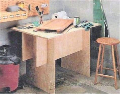diy folding work table woodarchivist