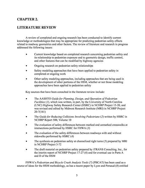 chapter  literature review pedestrian safety