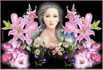 Femme Fleurs Rose Femmes Centerblog Gifs Rozenfelds
