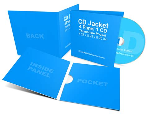 4 Panel Cover Actions Premium Mockup Psd Template Cd Jacket Mockup 4 Panel 1 Cd Pocket Cover Actions