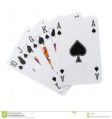 poker combination isolated royalty  stock