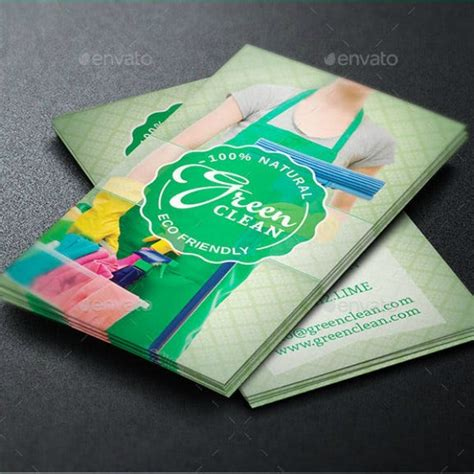 cleaning business card templates illustrator pages