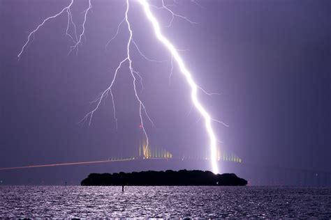 skyway lightning  great storm passed   sunshine