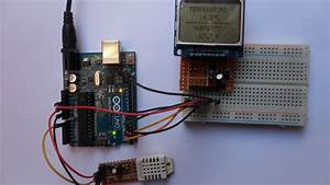 Arduino With Nokia 5110 Lcd And Dht22 Sensor