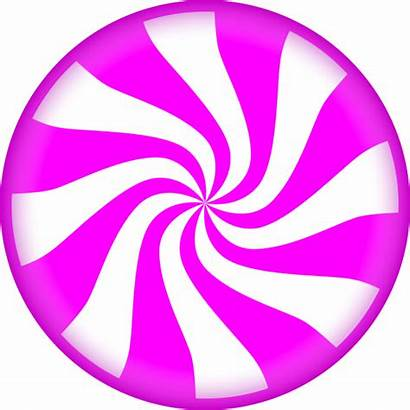 Candy Clipart Peppermint Clip Round Swirl Pink