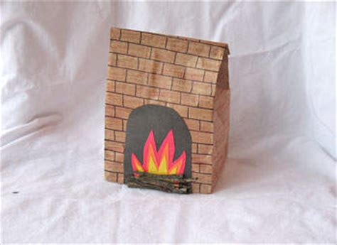 paper bag fireplace fun family crafts