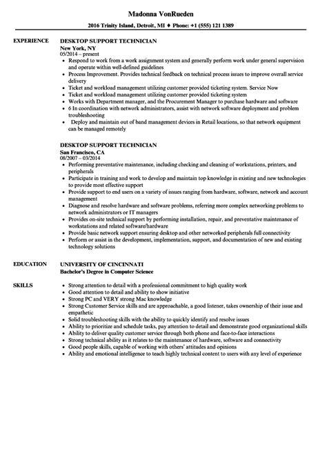 Desktop Support Resume by Desktop Support Technician Resume Sles Velvet