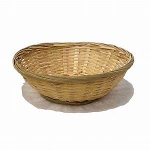 Bamboo Round Bread Bowl Basket The Lucky Clover Trading Co