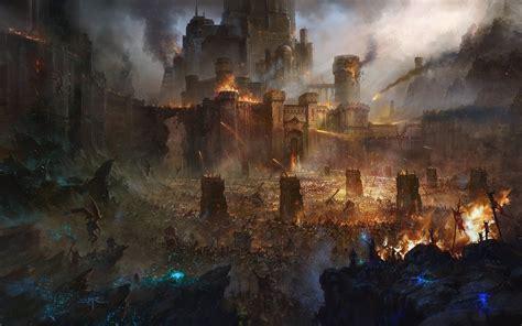 castle siege artwork battle siege castle army