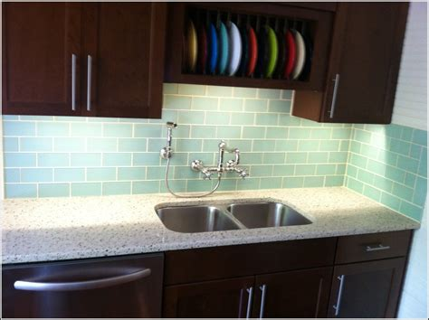 glass subway tile kitchen backsplash subway glass tile backsplash tiles home design ideas
